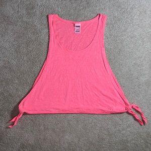 Victoria's Secret Pink Coral Side Tie Tank Top